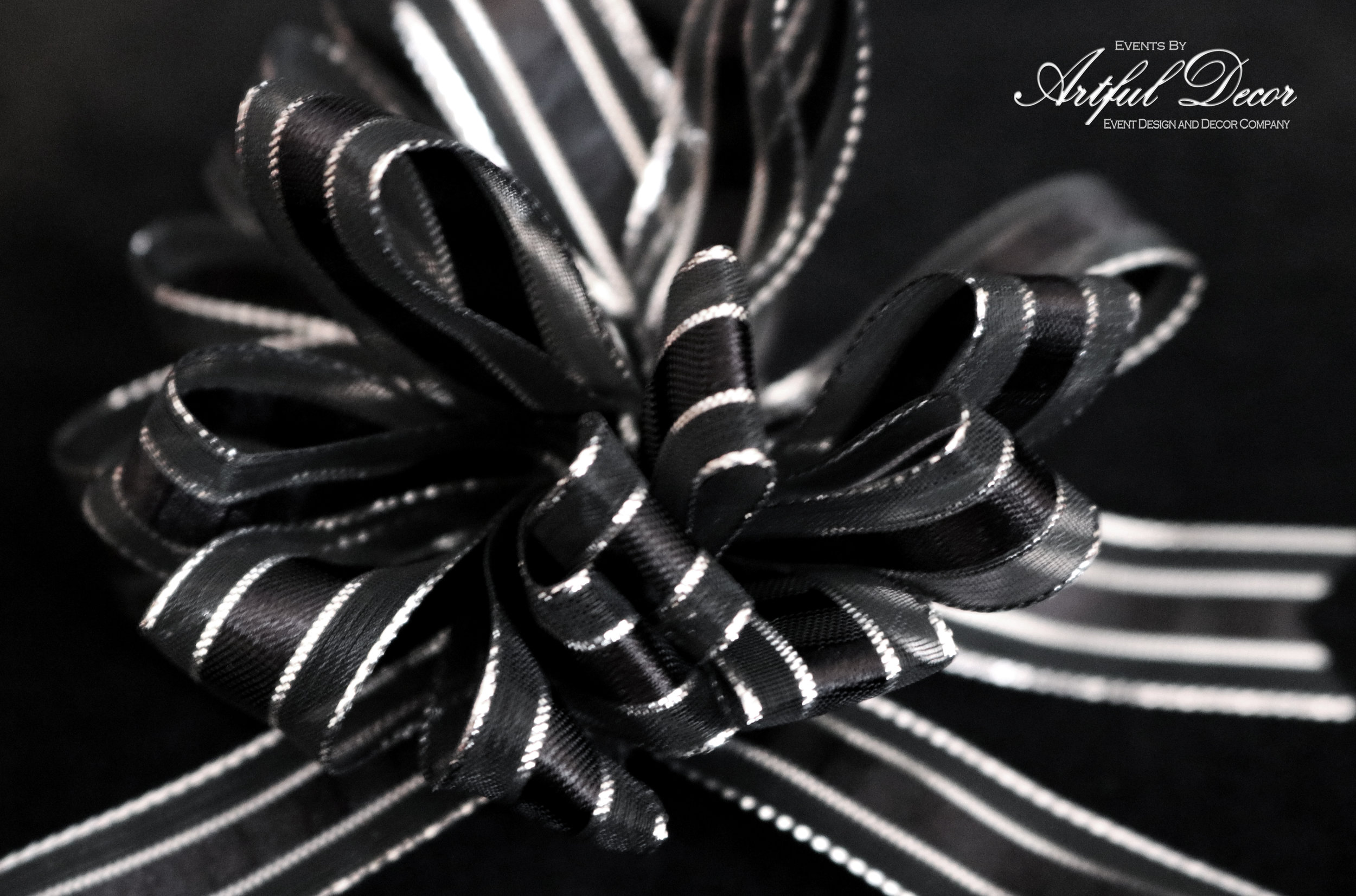 Onyx Chiffon / Chrome Stripe