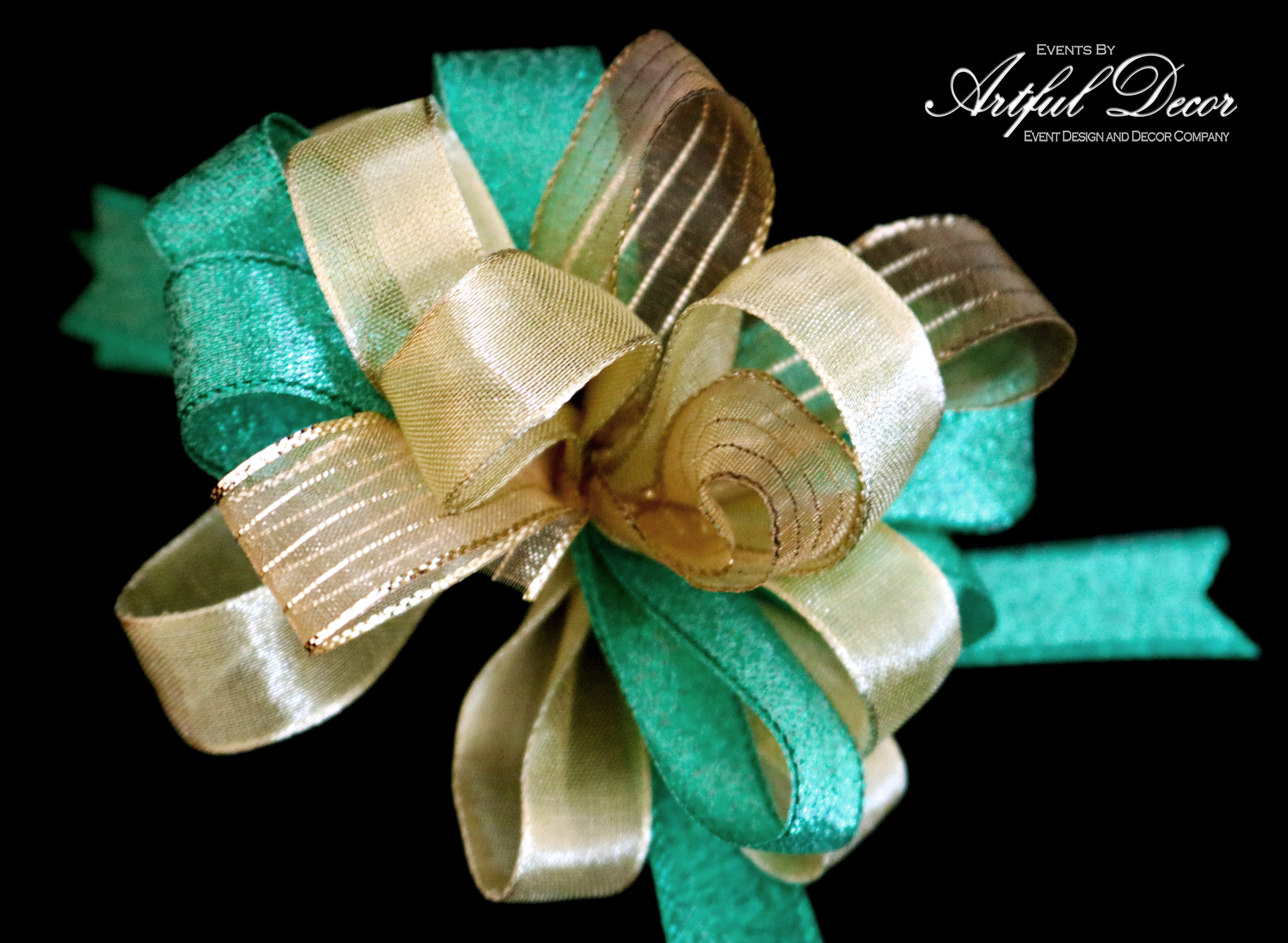 Emerald Metallic & Gold Luxe & Gold Chiffon / Metallic Gold Stripe