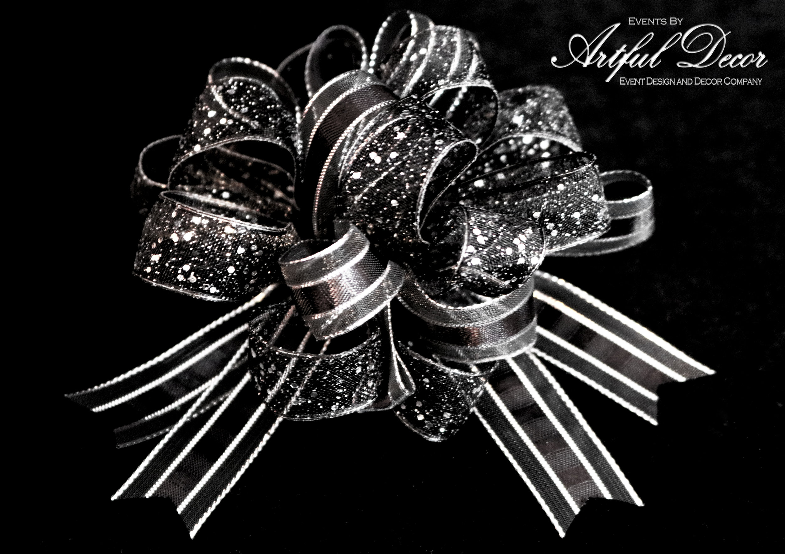 Onyx Chiffon / Chrome Stripe & Onyx Chiffon / Chrome Sparkle