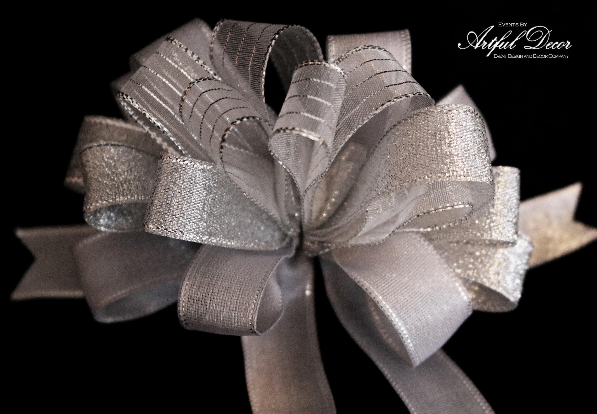 Bridal Chiffon / Chrome Stipe & Chrome Metallic & Nickel Chrome Edge