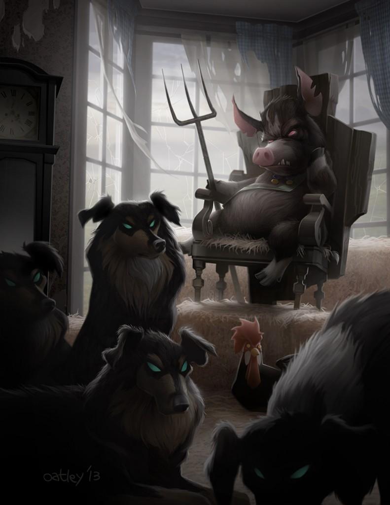 "Chris Oatley, ""Animal Farm: King Napoleon,"" 2013"