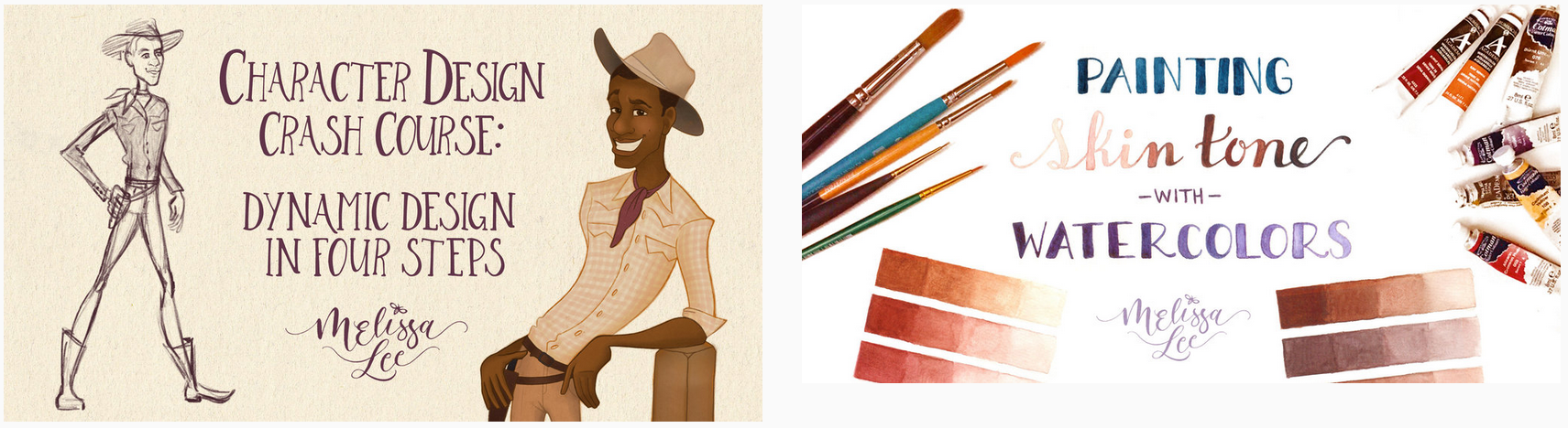 Dynamic Design in Four Steps  and  Painting Skin Tone with Watercolors  are the two classes I've contributed to the bundle.