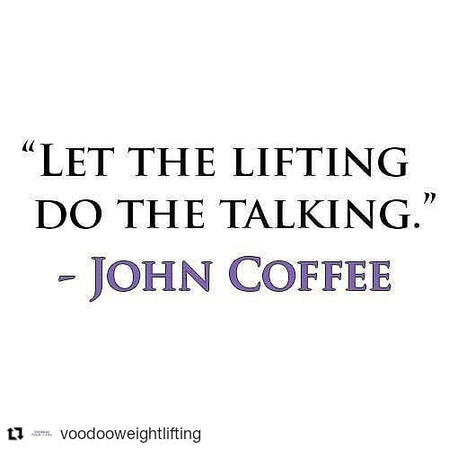 #Repost @voodooweightlifting (@get_repost) ・・・ A very important lesson that my coach and mentor John Coffee taught me was that quality and success will speak for themselves. If you train and treat your athletes right then they will succeed. That success won't go unnoticed to the people that matter! I try to stay focused on my actions reflecting this rather than merely my words.⠀ ⠀ This is a lesson that I try to abide by everyday, this is our slogan at Voodoo Weightlifting!