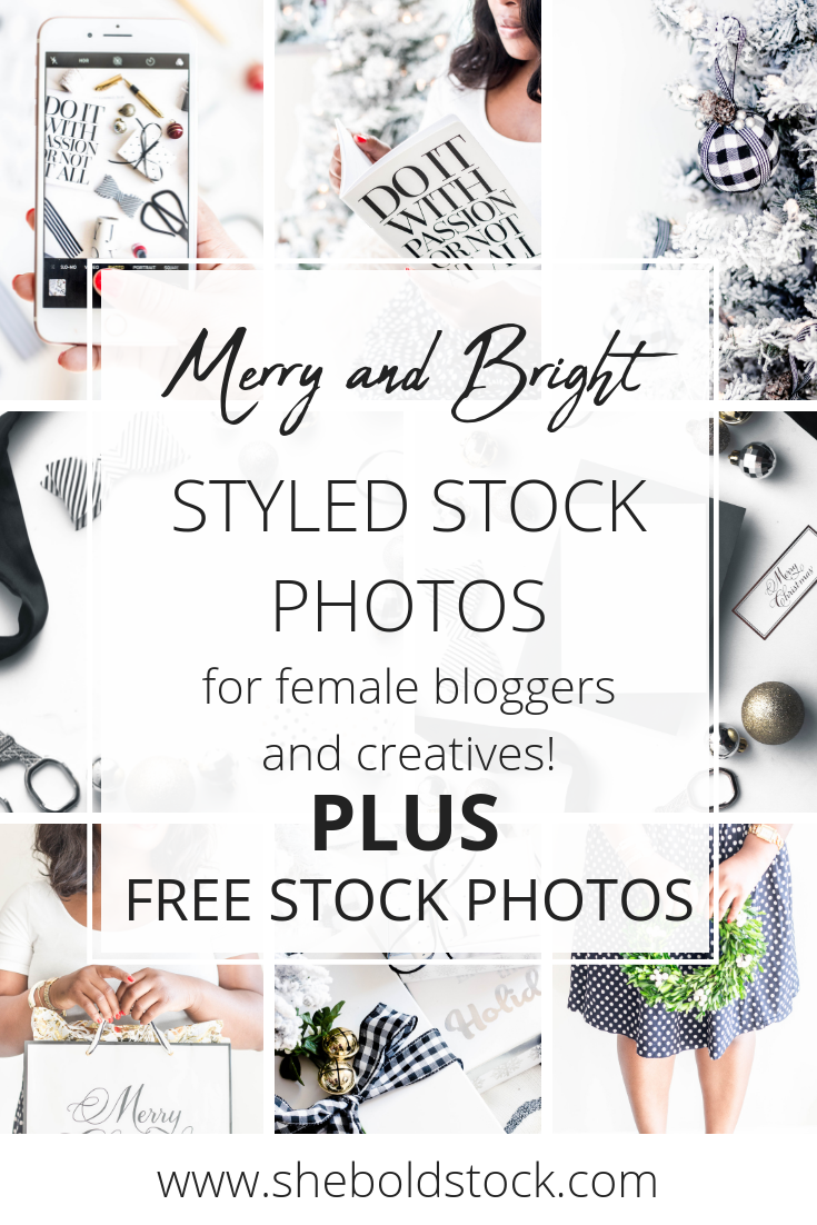 Black and White Holiday Stock Photos for women bloggers and female entrepreneurs!