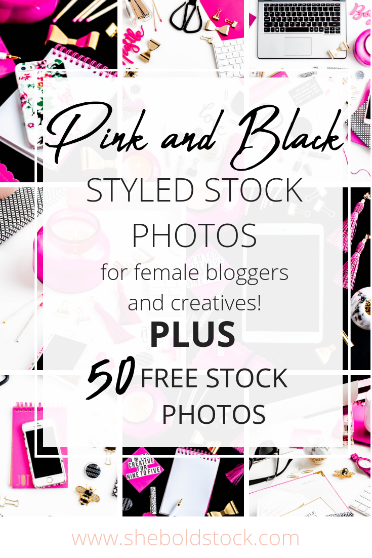 Black, white, and gold stock photos for women entrepreneurs