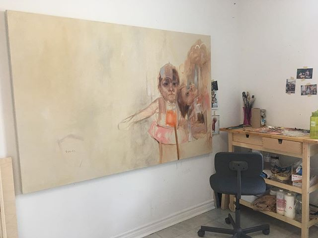 Working on a new painting in my new (and first) studio ☺️