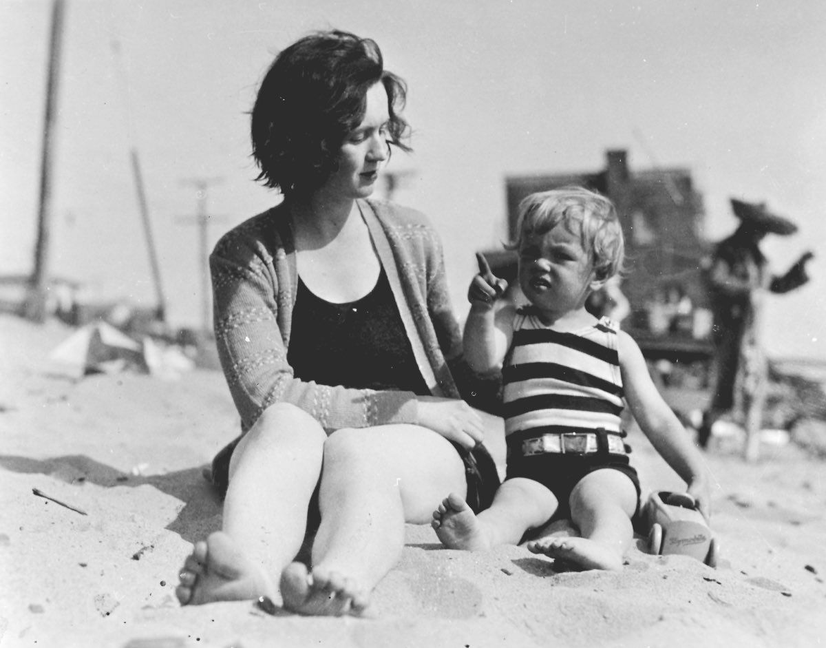 Norma and her mother 1928