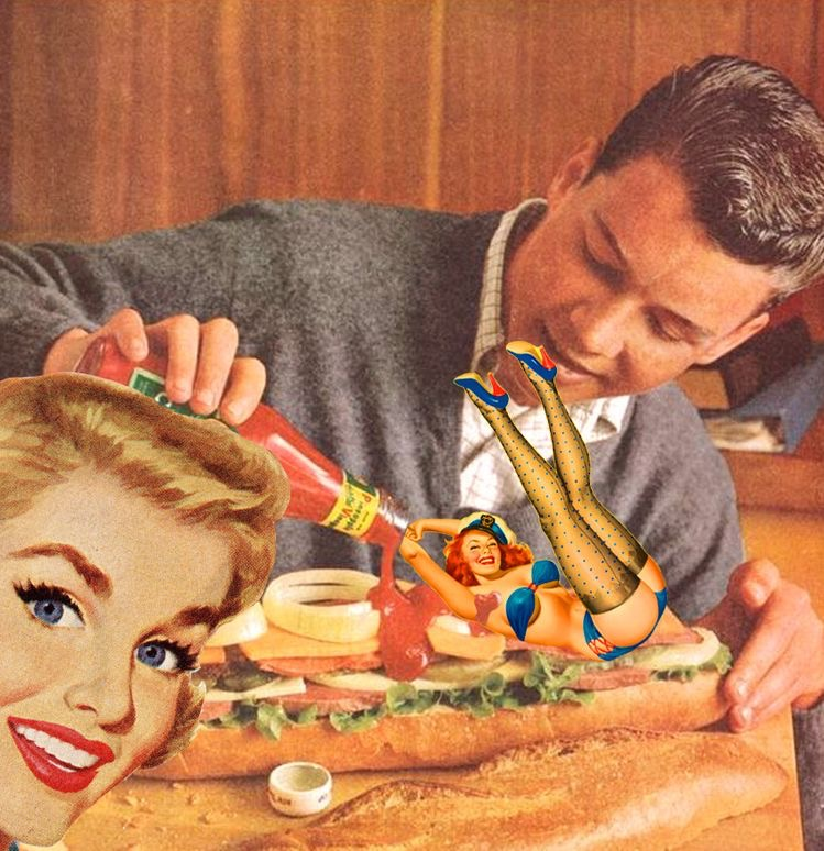 Collage from a 1950's  Del Monte  catsup advertisement - Unknown