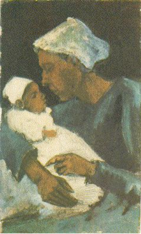 Sien with Baby on her Lap - Vincent Van Gogh