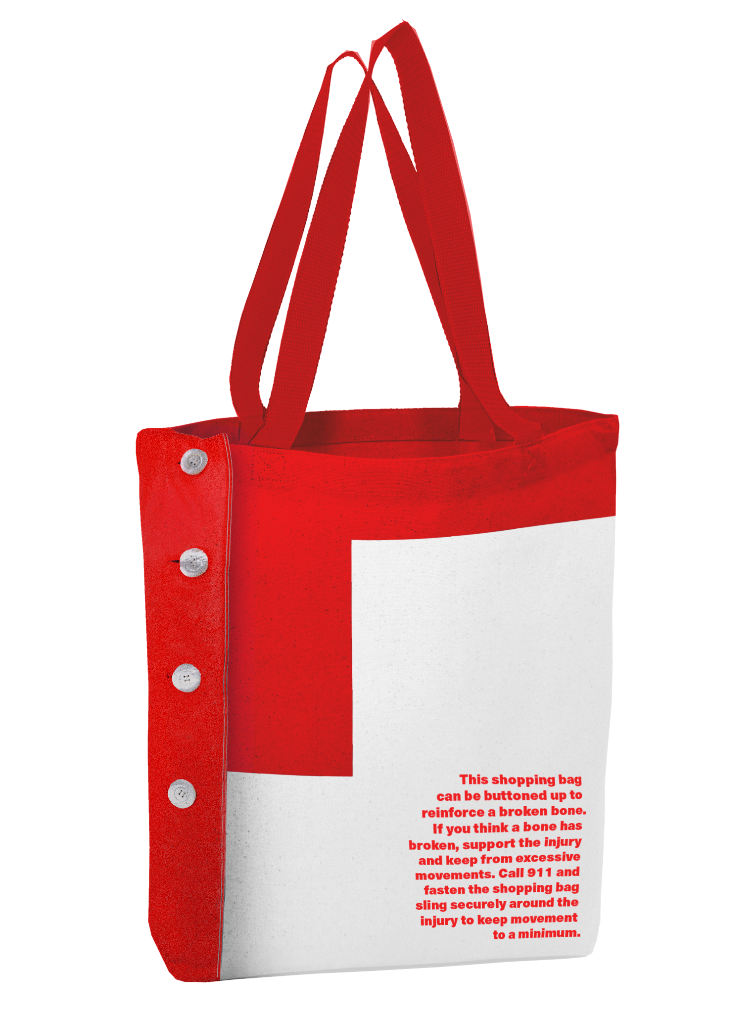 Grocery BagArm Sling. - It can convert into a sling for breaks and sprains.
