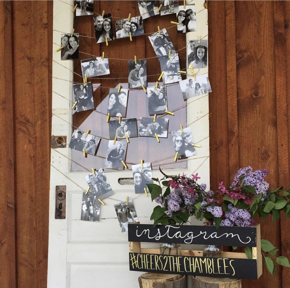 Armstrong Farms Prop Shop Rustic Wedding Vintage Door Photo Display .jpg