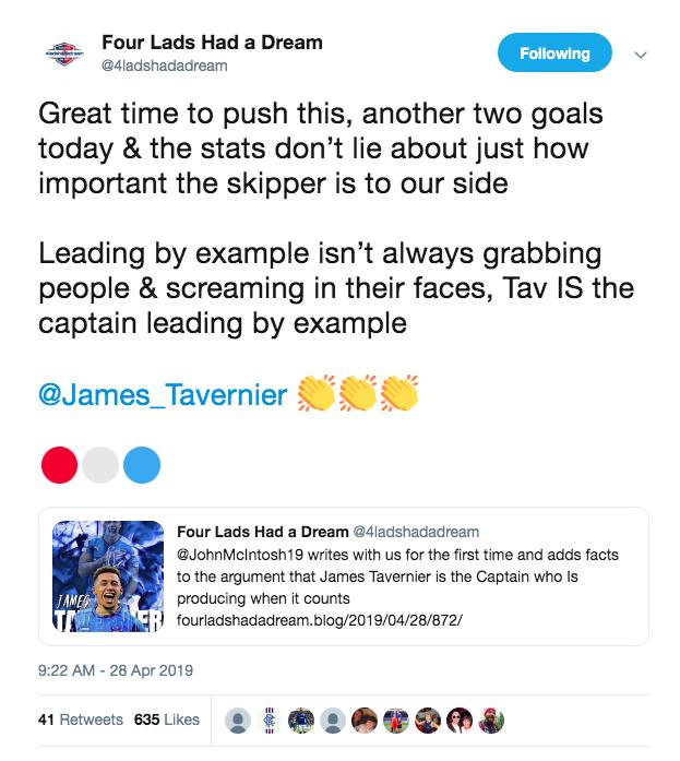 Nine of James Tavernier's eleven goals this season have been penalties