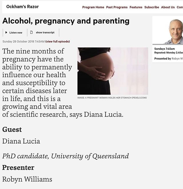 My talk for Sydney Science Festival and @abcradionational is now online!  Hear my talk on preconception health, alcohol and pregnancy live this Sunday morning or listen to the Ockham's Razor podcast below 👇  https://radio.abc.net.au/programitem/pgdVY3ak3G?play=true  #sydneysciencefestival #radionational #ockhamsrazor #pregnancy #preconceptionhealth #alcohol #abcradio
