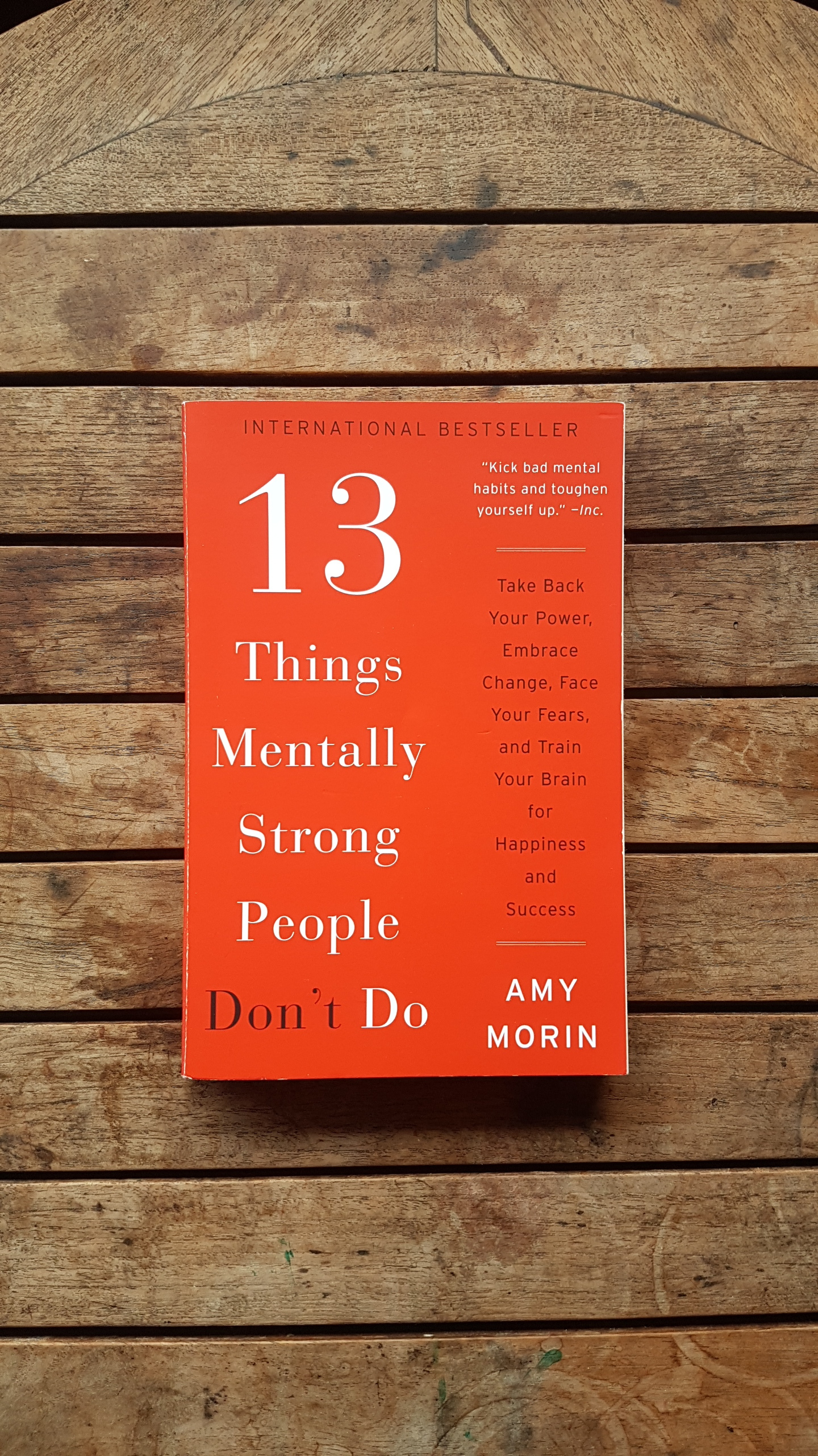 13 Things Mentally Strong People Don't Do: Take Back Your Power, Embrace Change, Face Your Fears, and Train Your Brain for Happiness and Success   by Amy Morin