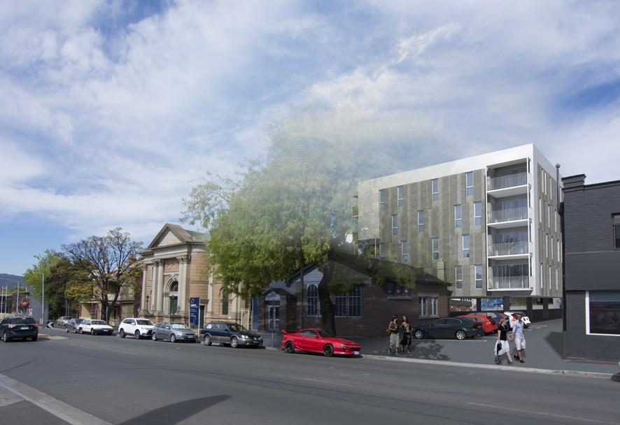 Artist Impression of the proposed development.  Image - 1+2 Architecture