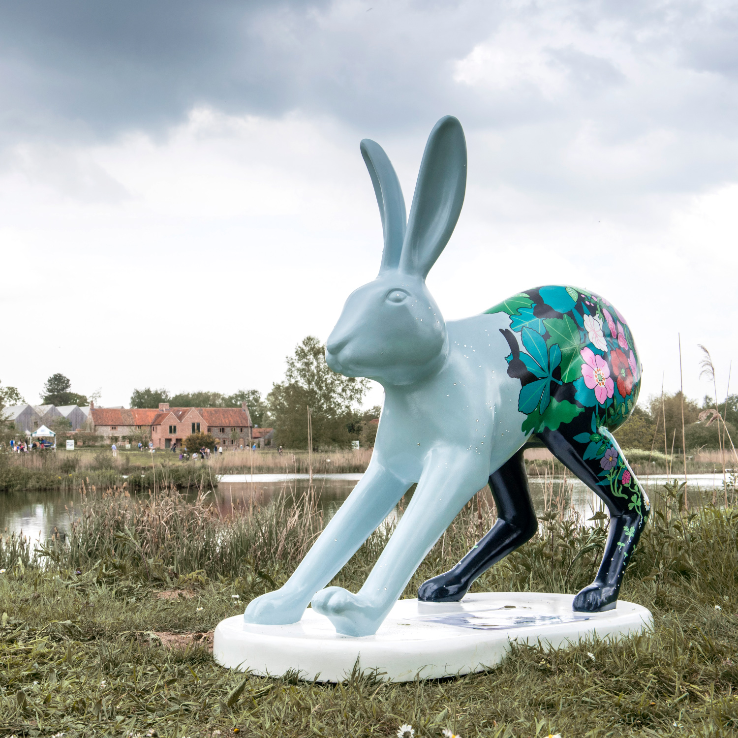 - Go Go Hares sculpture trail and Go Go create leverets is a charity fundraising initiative organised by East Anglian charity BREAK. I was asked by Pensthorpe Natural Park to decorate their own Go Go Leveret.I called the Leveret 'Stargazer' and built an evolutionary trail up from the stars on her feet, through seeds, seedlings, small wildflowers, trees and ending with the evolved Leveret. The Leveret stares out from the undergrowth to the stars, where the Lepus constellation can be seen made up from crystals glued onto the Leveret's body.