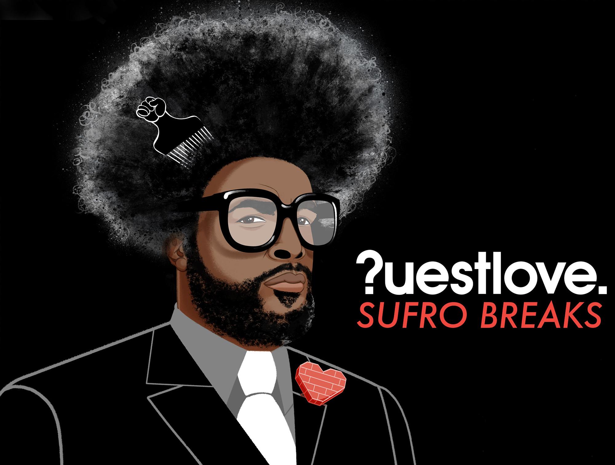 """Questlove 7"""" box set artwork for Serrato & Questlove"""