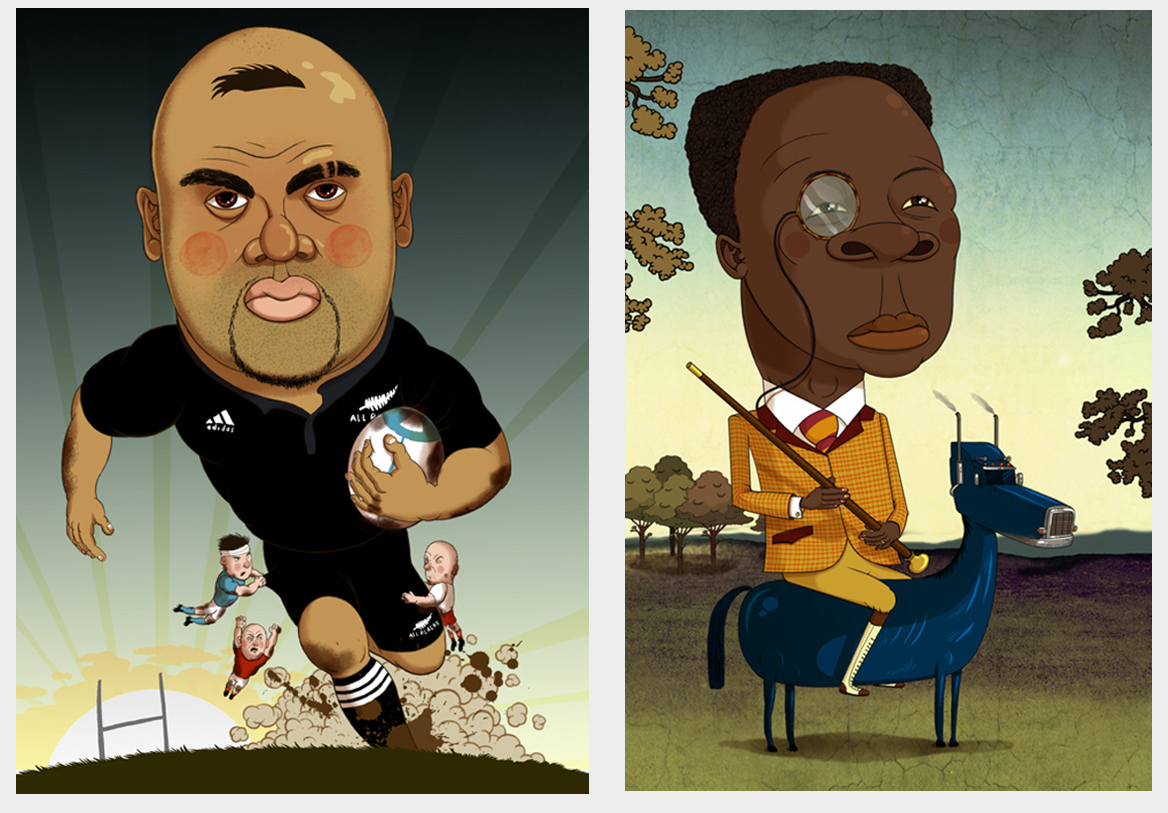 Jonah Lomu and Chris Eubanks The Observer Sport Monthly