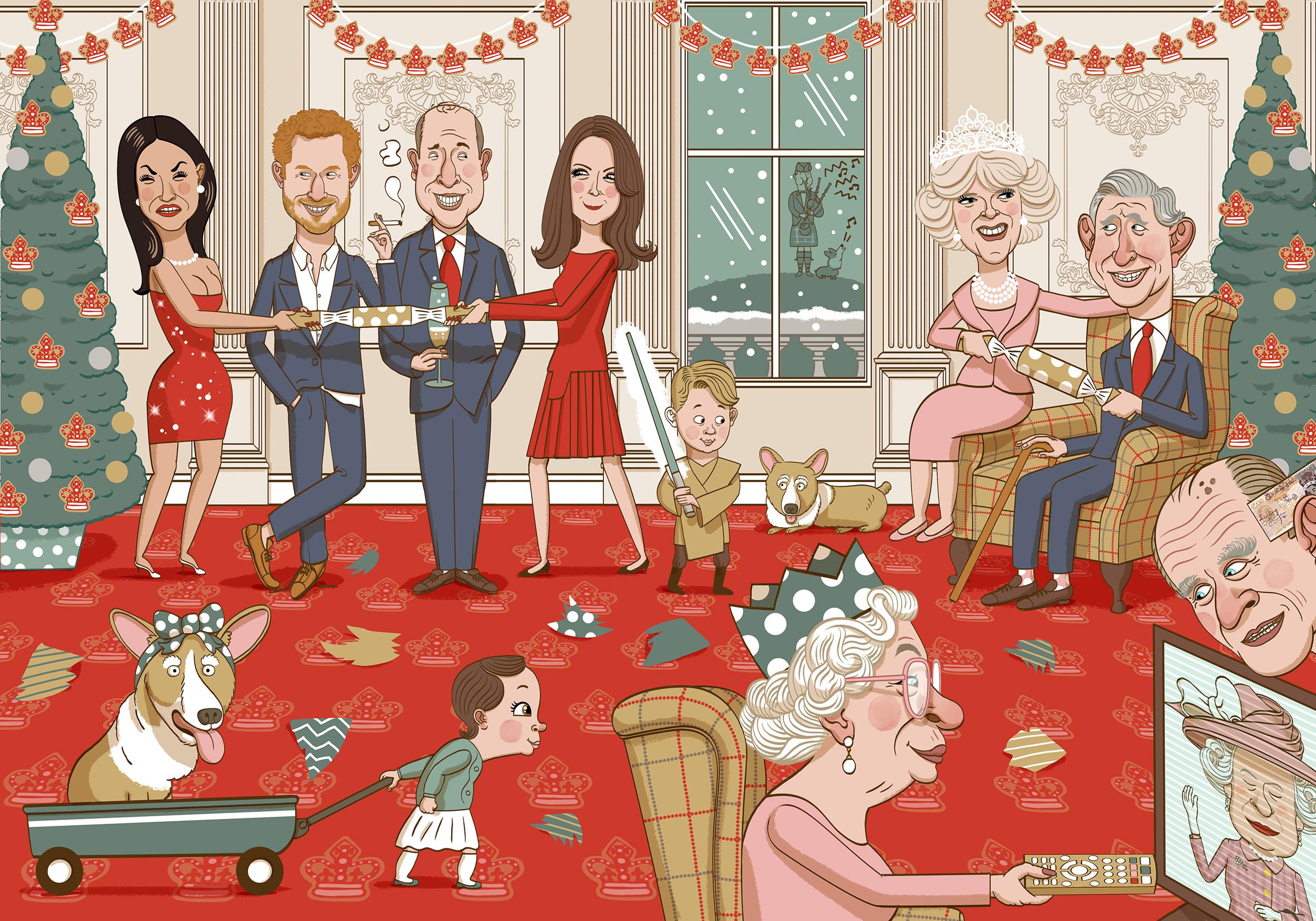 The British Royal Family at Christmas