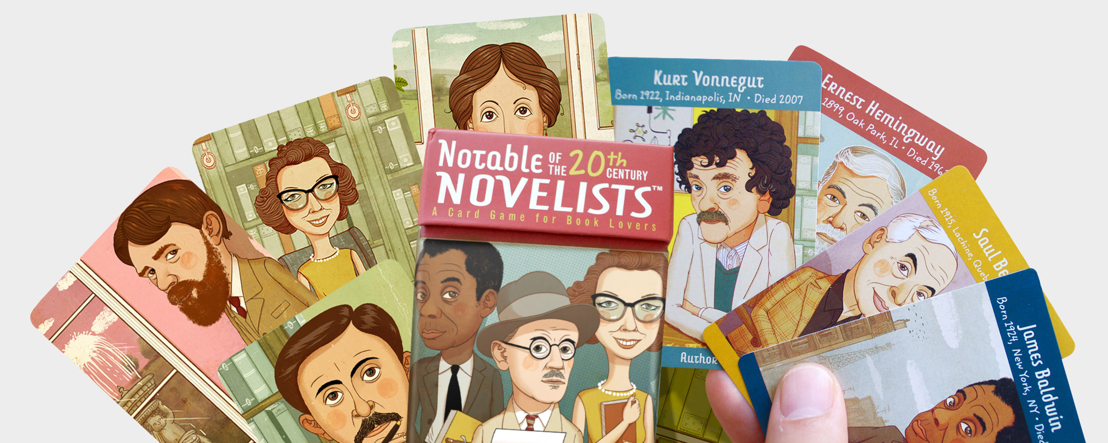 - For Calico, this card game features portraits of some of the worlds most well known 20th Century authors