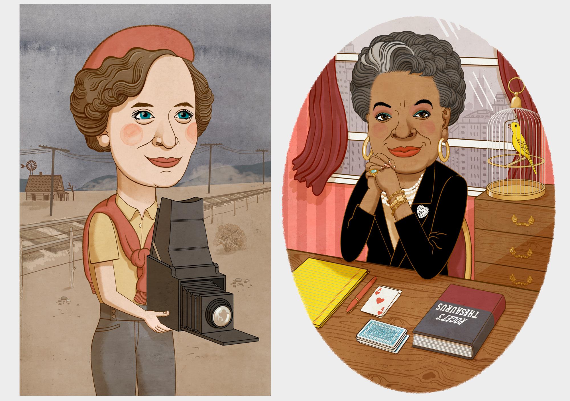 Dorothea Lange and Maya Angelou