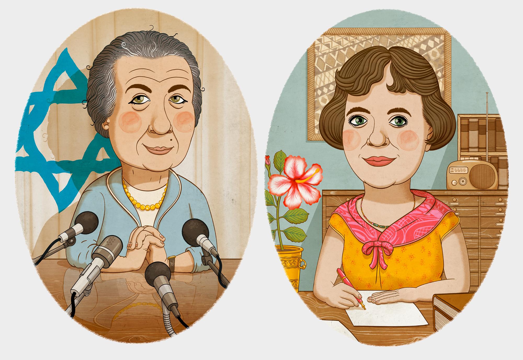 Golda Meir and Margaret Mead