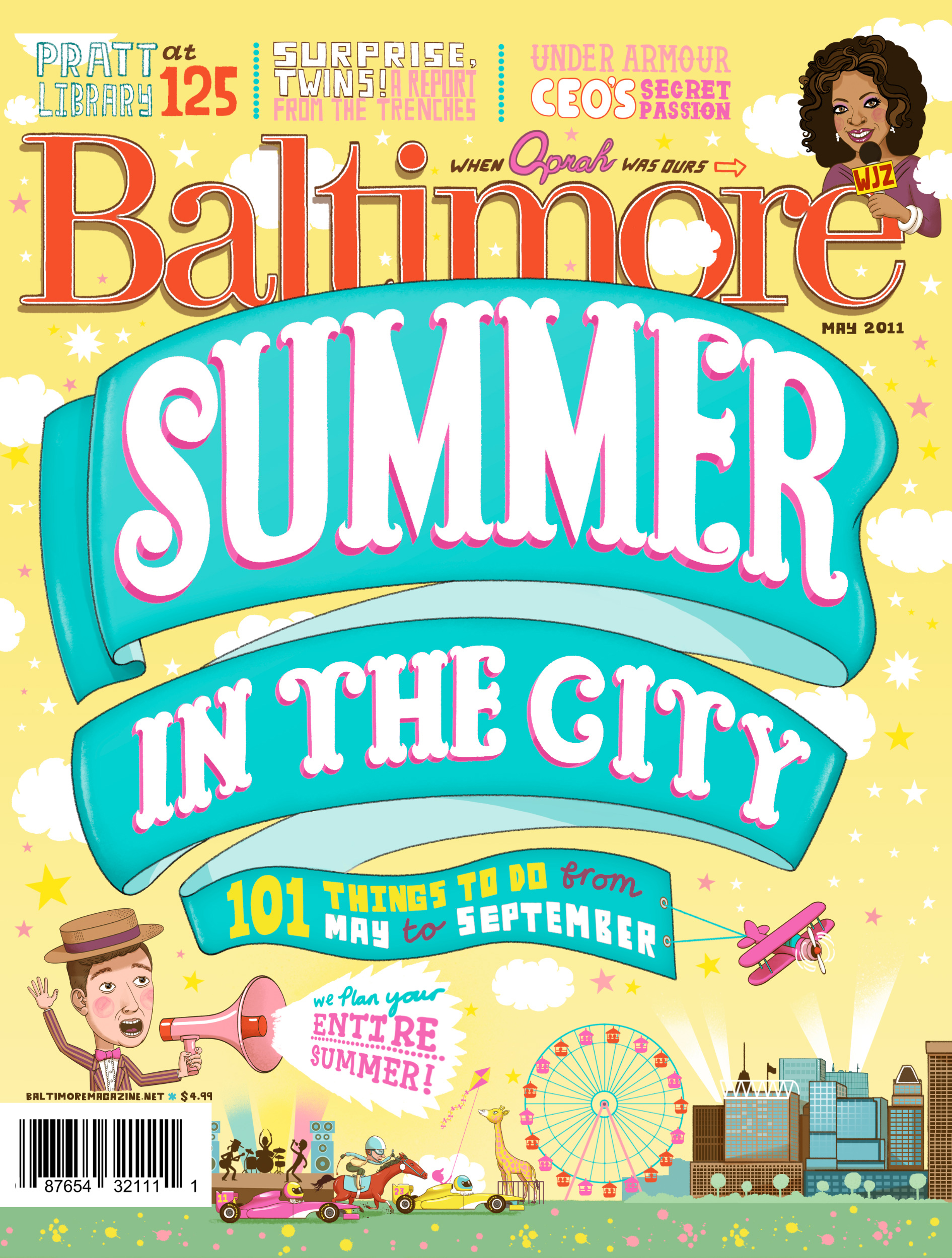 - A completely hand drawn cover for Baltimore Magazine!