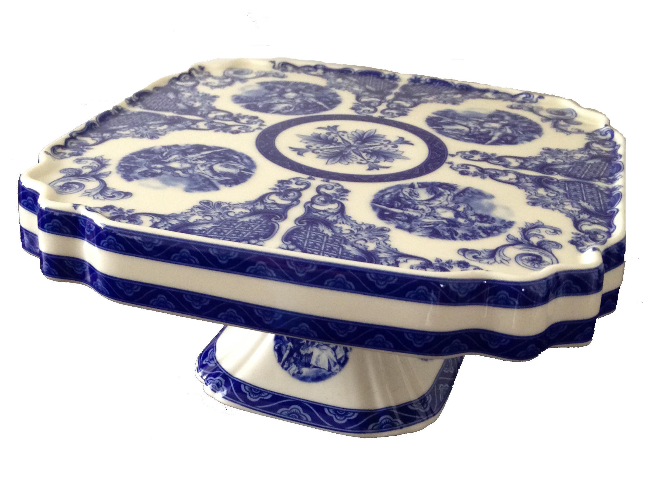 Blue Willow Cake Stand # $10