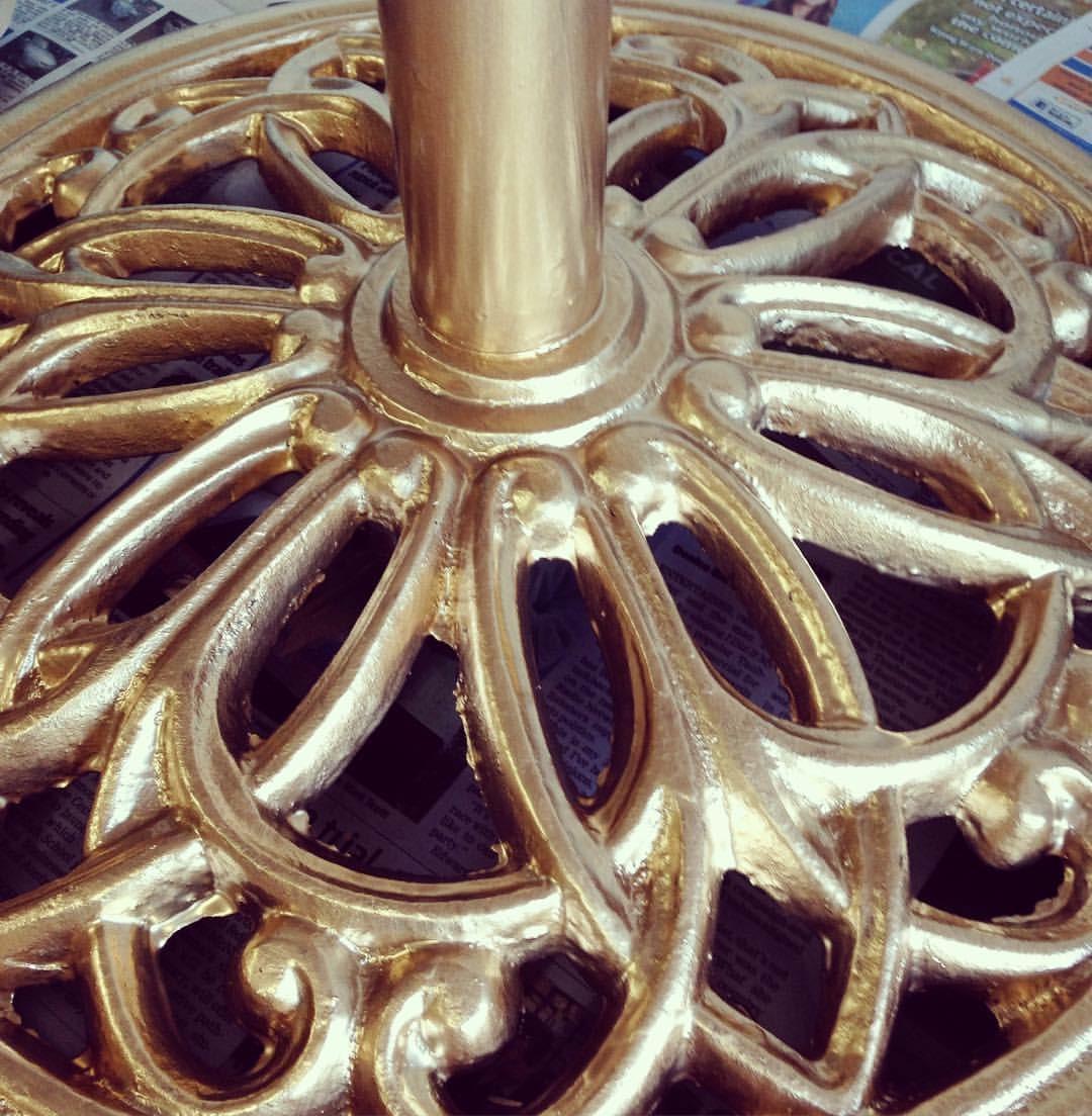 Gold Umbrella Base # $15 each