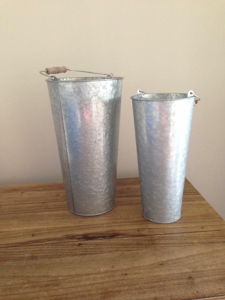 Galvanised Buckets # $3