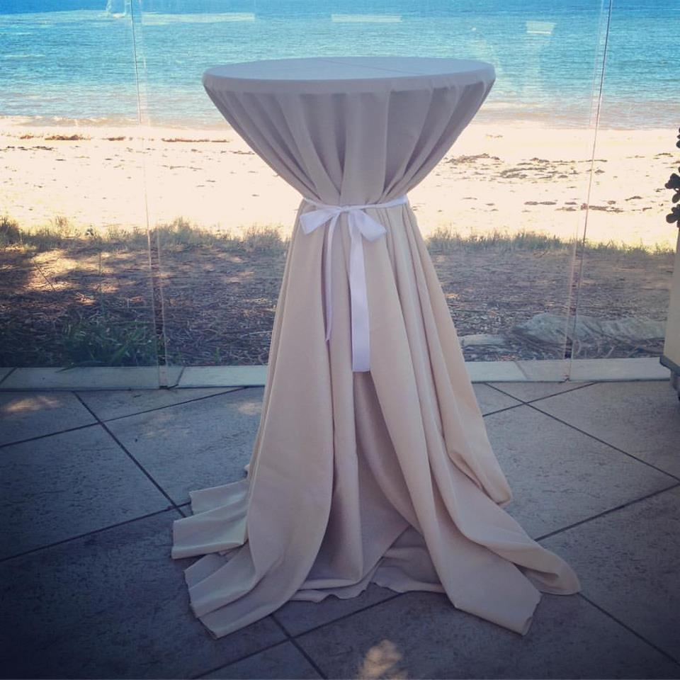 Round Natural Tablecloth # $20