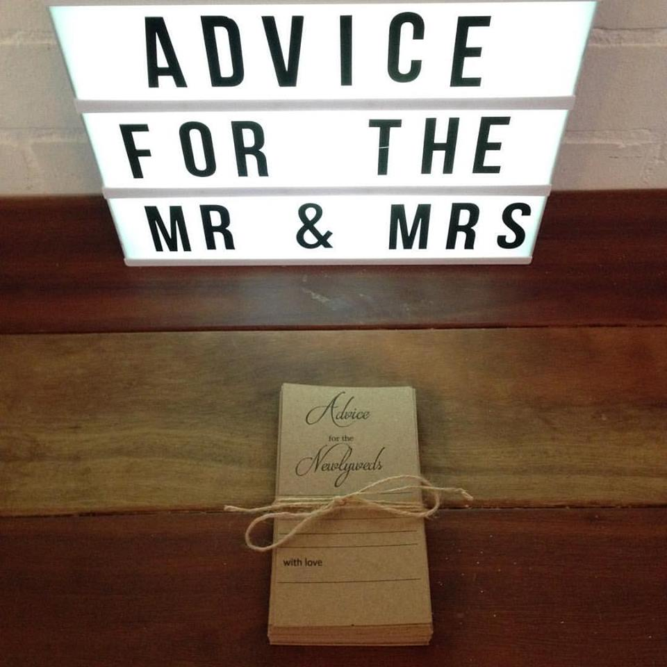 Newlywed Advice Cards