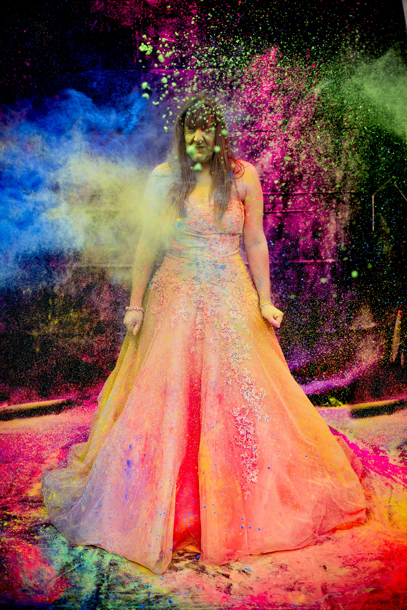 Concepts - It is unavoidable to ignore how much we constantly impact the environment. The 'Trash the dress' bridal photo shoot trend which started in America, is a great representation of our throwaway society. Brides literally destroy their dresses in a ceremonious photo-shoot in a variety of creative ways, such as this paint throwing trashing. Many knowing their one off bridal wear will never be worn again take part in this new trend, opposing the vast cost spent on the dress and its symbolism of love and marriage.The way we live and natures struggle against mankind is one of my biggest inspirations.'' The Throwaway society is a human society strongly influenced by consumerism. The term describes a critical view of over-consumption and excess production of short-lived or disposable items over durable goods that can be repaired.'' - The Art OfIt is our throwaway society that has put such a strain onto our natural world. We continue to be warned through documentaries, news stories, and most importantly charities and organisations who are trying to take action. I often visit bird reserves such as Leighton Moss RSPB reserve, and can't help but notice plastic debris close by to birds nests..This is where the 'Trash The Birds' theme behind my was born that I have witnessed so often, and is a key motivator behind my art. I want to provoke action that taking care of the environment by changing our habits as individuals can make a difference. Do we really want to ' trash' the world we live in for future generations?I use vivid colours to try grab peoples attention, as we just are so oblivious to our planet sometimes. I feel like I have to create work that stands out with bold colours and strong definition to try create something you can't help but notice. As one person in this planet where billions of people exist against the struggling nature that we share it with, I hope to one day become known for my work and help raise awareness for our disappearing nature in as many ways as I can.Photograph by Joshua Wyborn