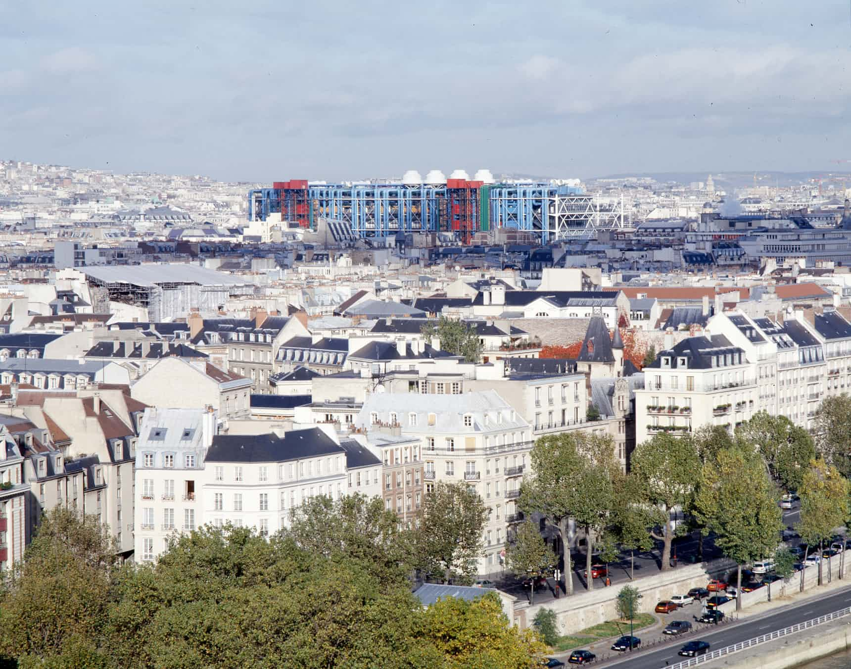 The Pompidou seen from across the city