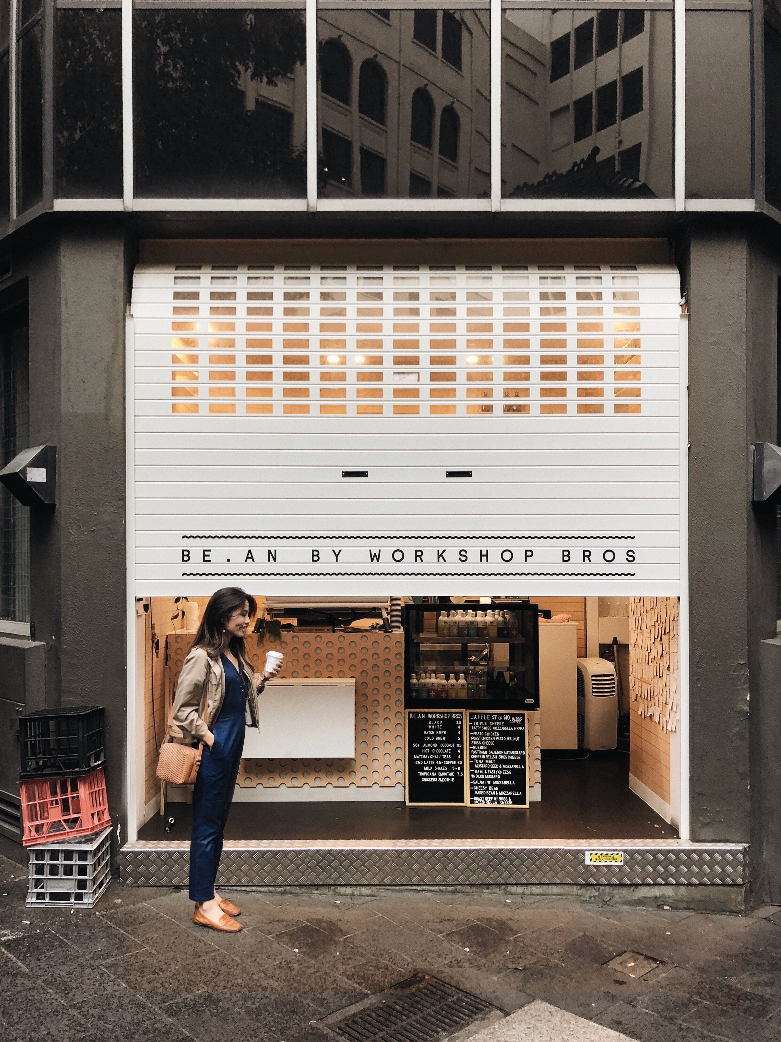 B E A N b y W O R K S H O P B R O S /  BE.AN By Workshop Bros  a very tiny coffee bar hidden in the alley of Collins Street 📍410 Collins St, Melbourne VIC