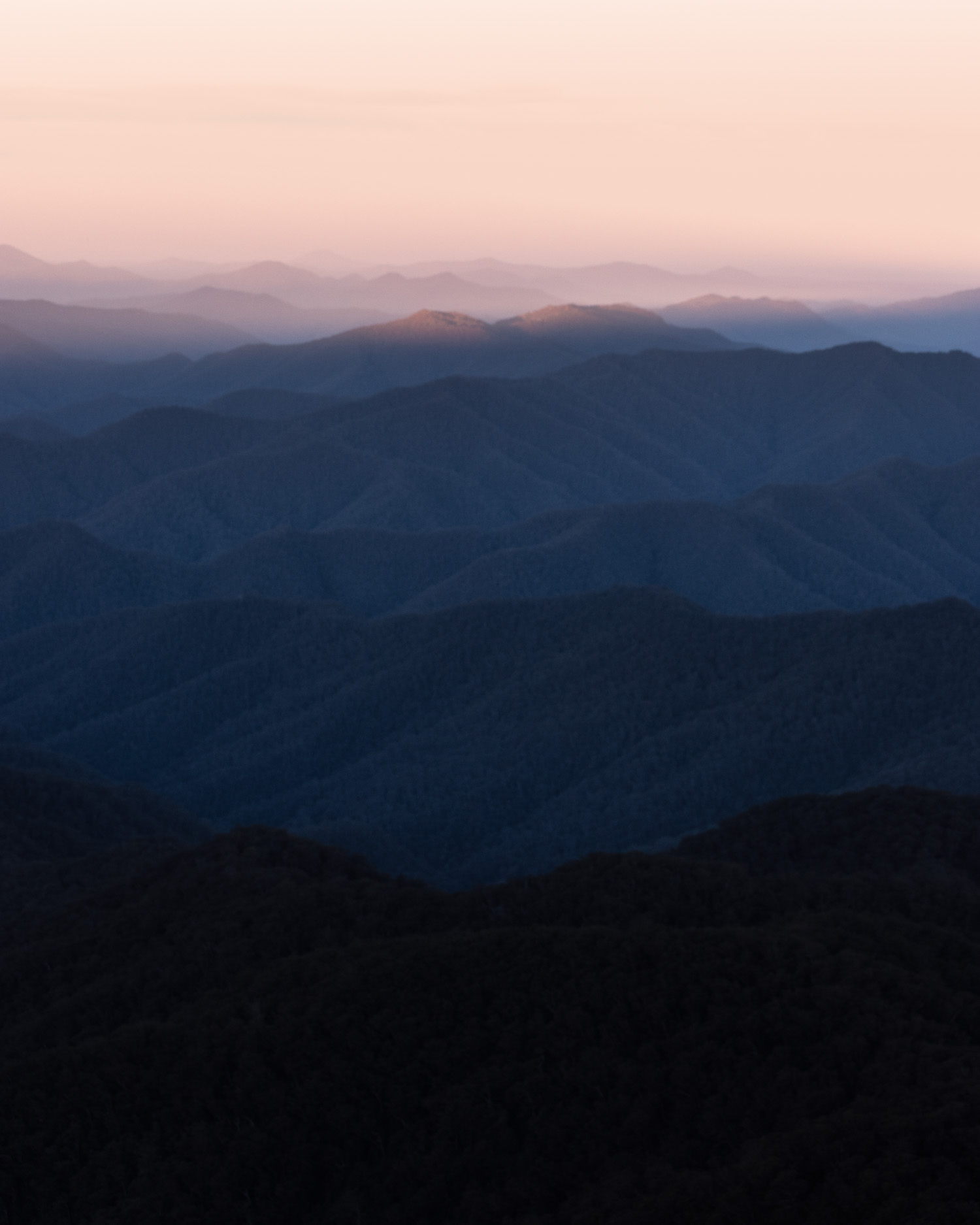 Sunset over New England National Park