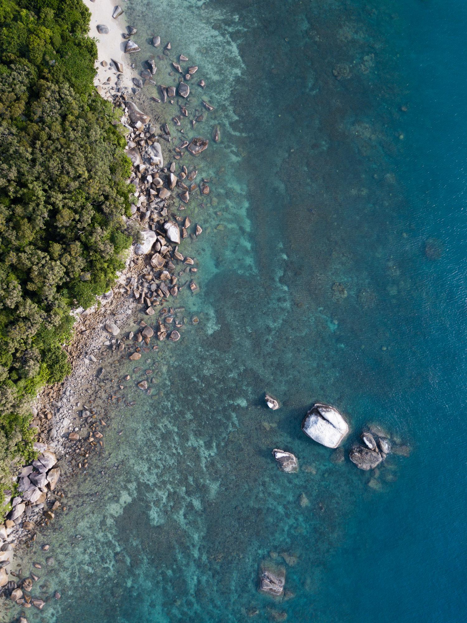 Fitzroy Island Birds Eye Aerial