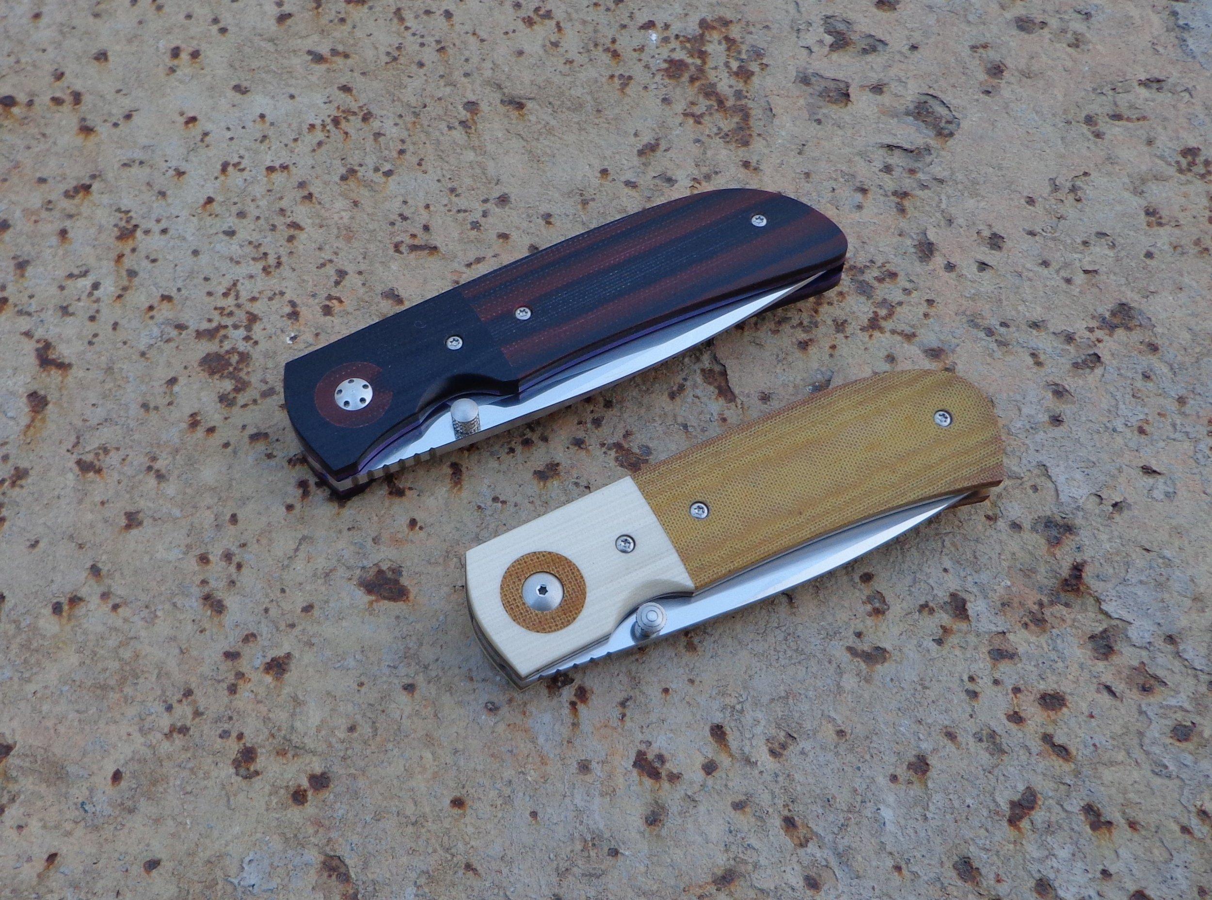 Knives: Hanson- and Sakson Junior Liner Locks.
