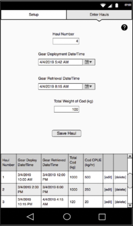 Figure 1: An example of a possible reporting interface on a mobile app.