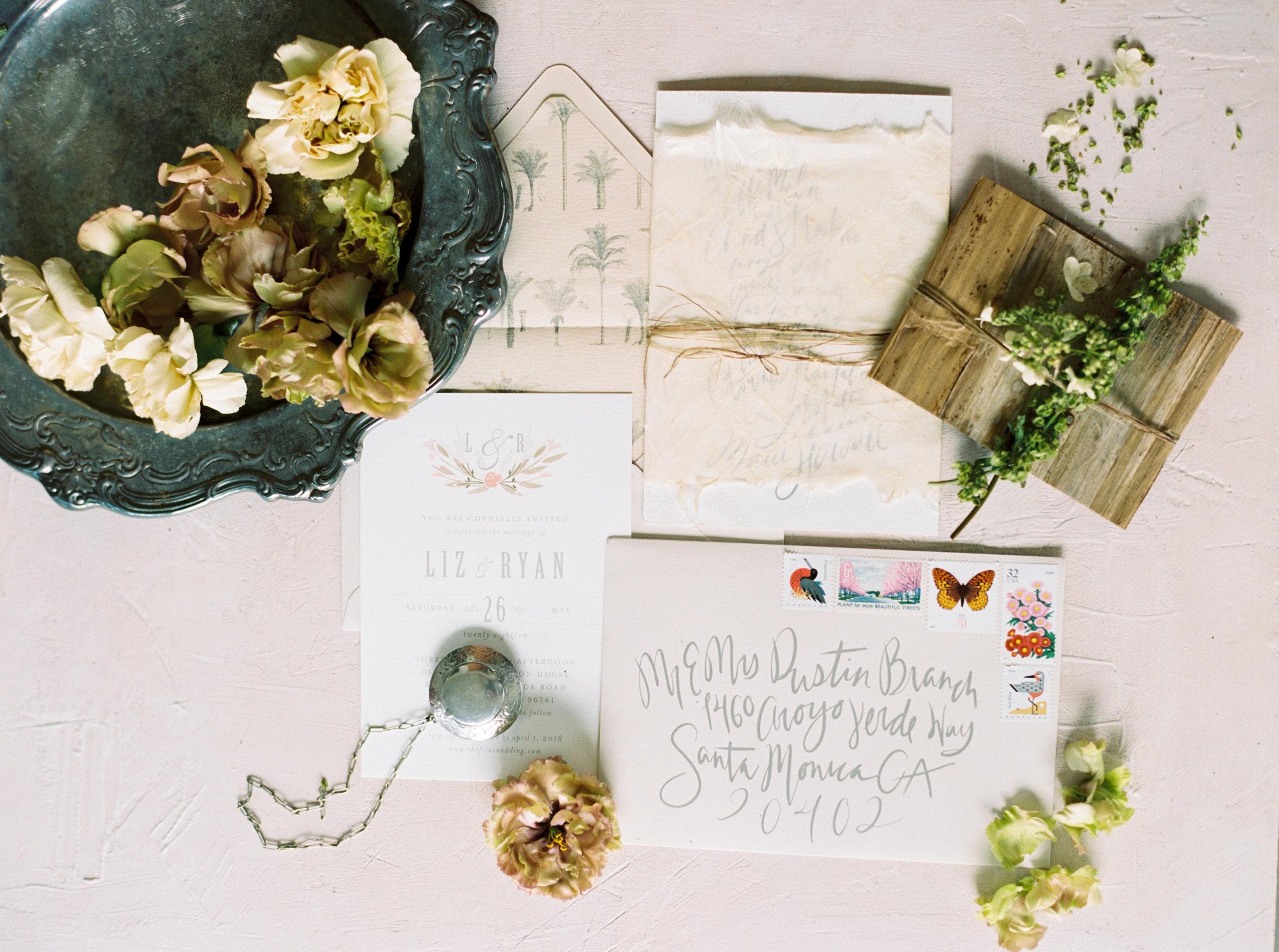 Custom Wedding Invitations | Olowalu Plantation House | Luxury Destination Wedding Planner | Unveiled Hawaii