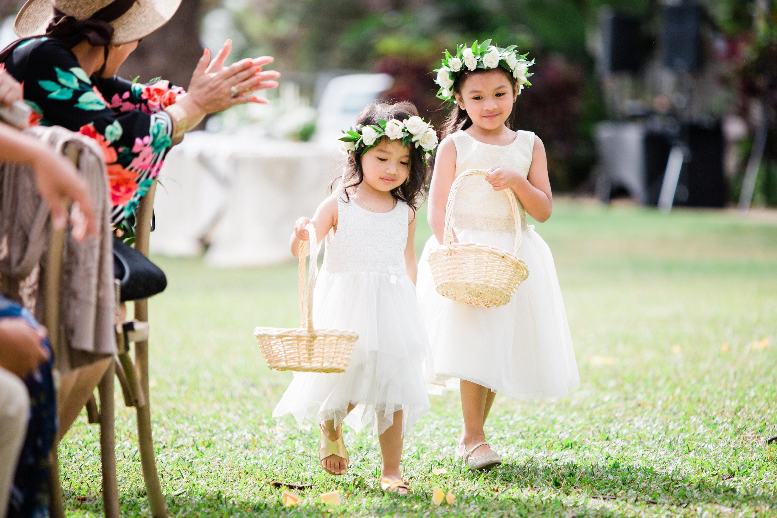 Flower Girls | Olowalu Plantation House | Luxury Destination Wedding Planner | Unveiled Hawaii