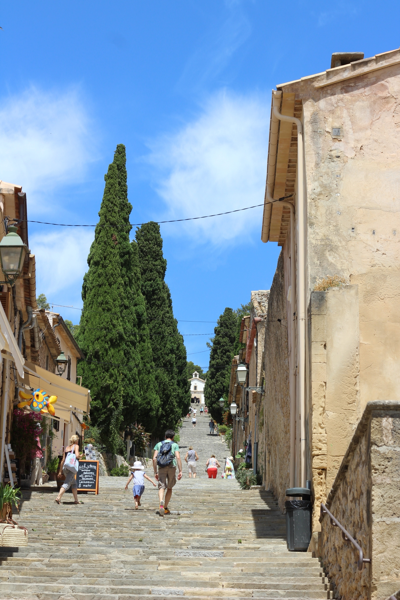3) Climb the Calvary steps in Pollenca - There is a lovely view of the town from the top, and great bars/cafes in the square as you return to the town itself.