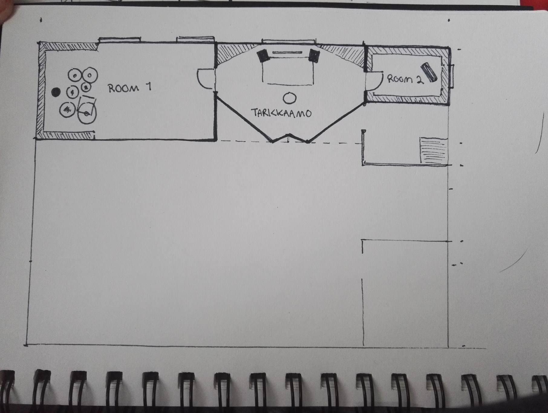 Ensimmäinen suunnitelma mahdollisesta studiosta