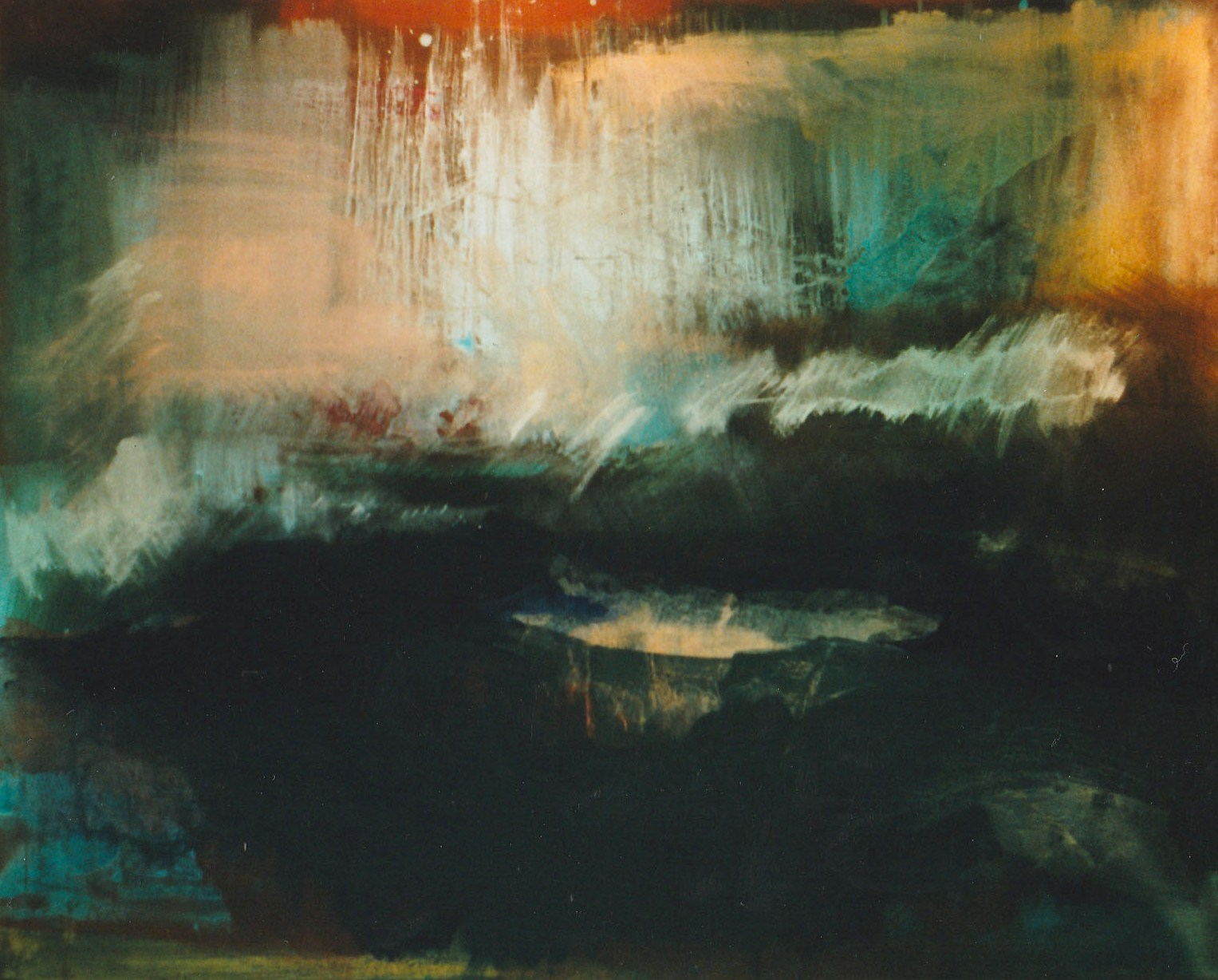 abstract, acrylic on canvas, 1998, 121 x 91cm sold