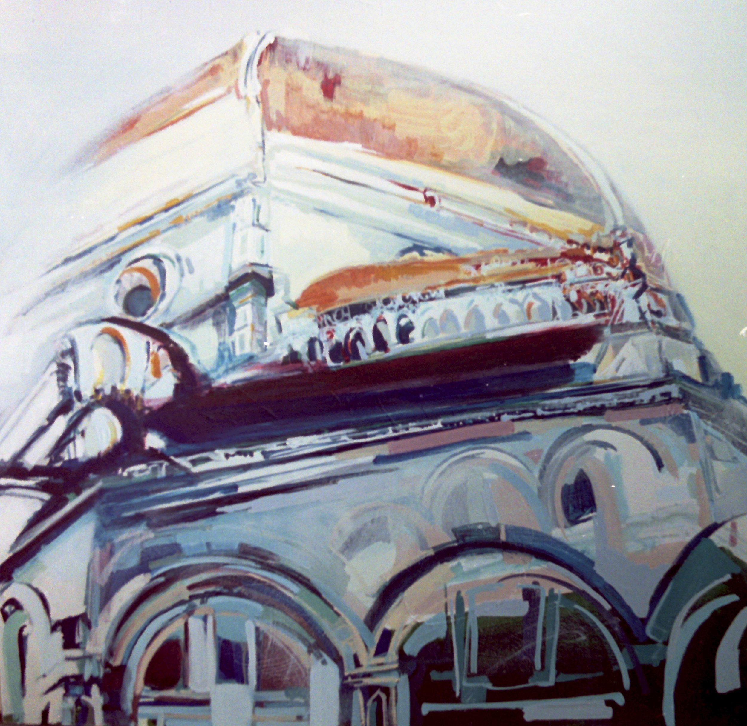 il duomo Firenze, acrylic on canvas, 2001, 120 x 120cm sold