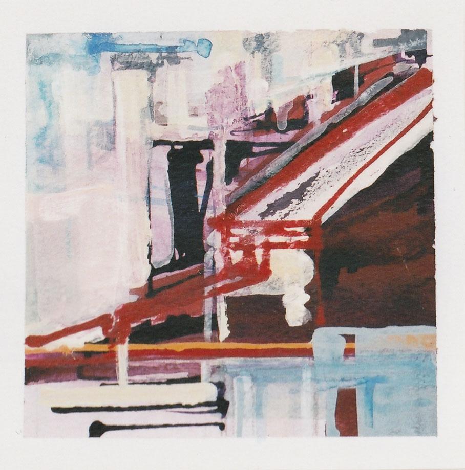 acrylic on paper, 14 x 14cm, mounted 44 x 44cm, 2002 £150
