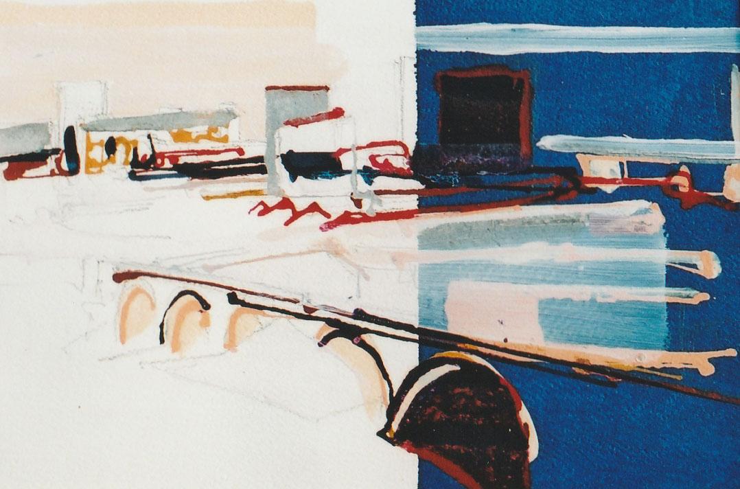 Birmingham study 2, acrylic on paper, 32 x 23cm, 2001 £80.00