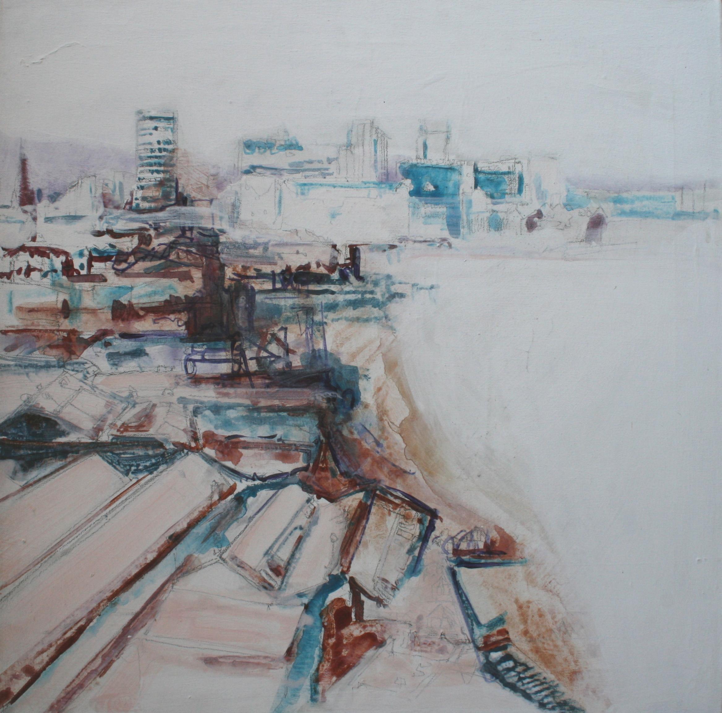 digbeth, acrylic on canvas, 61 x 61cm 2000
