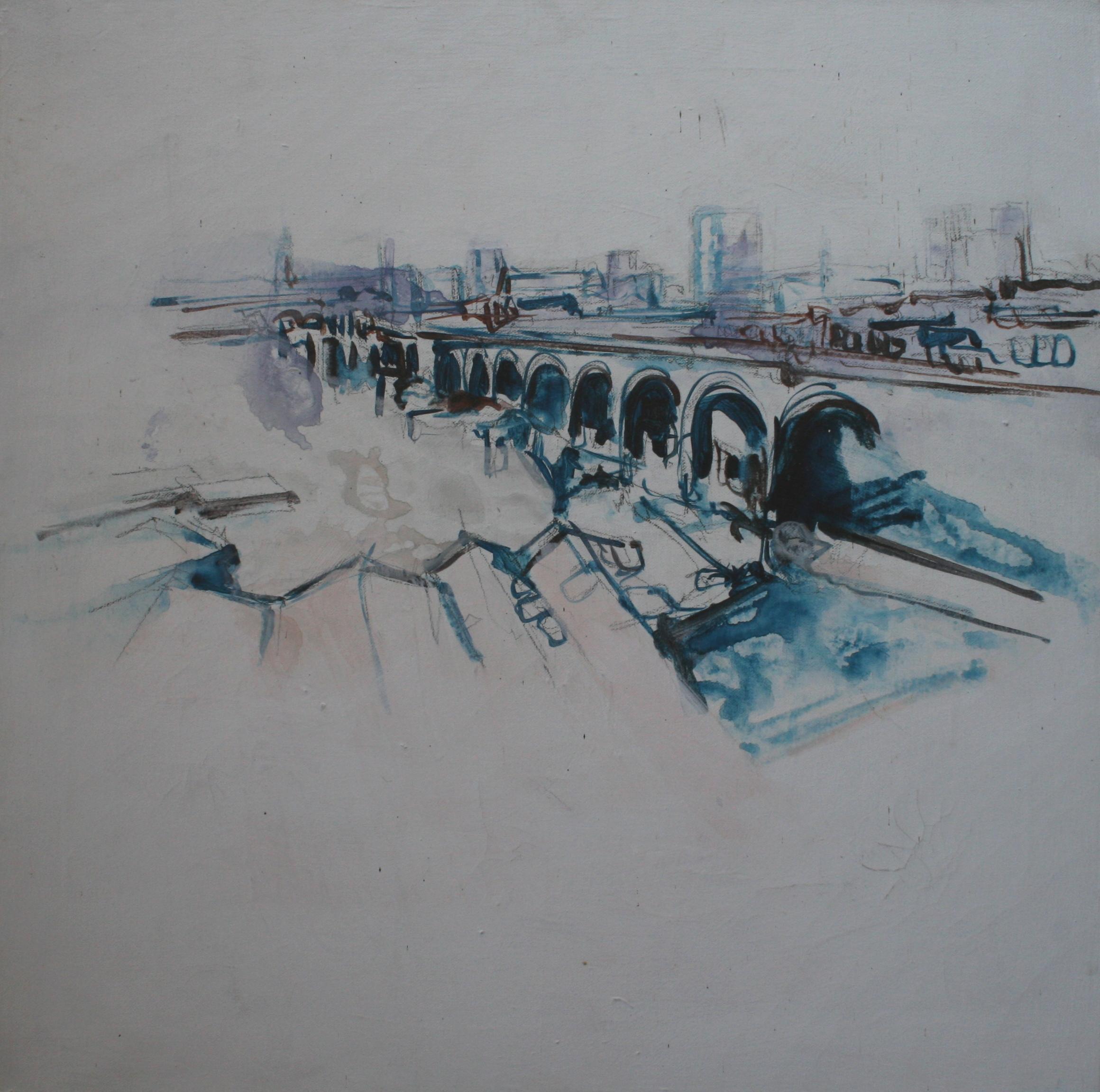 digbeth, acrylic on canvas, 61 x 61cm, 2000