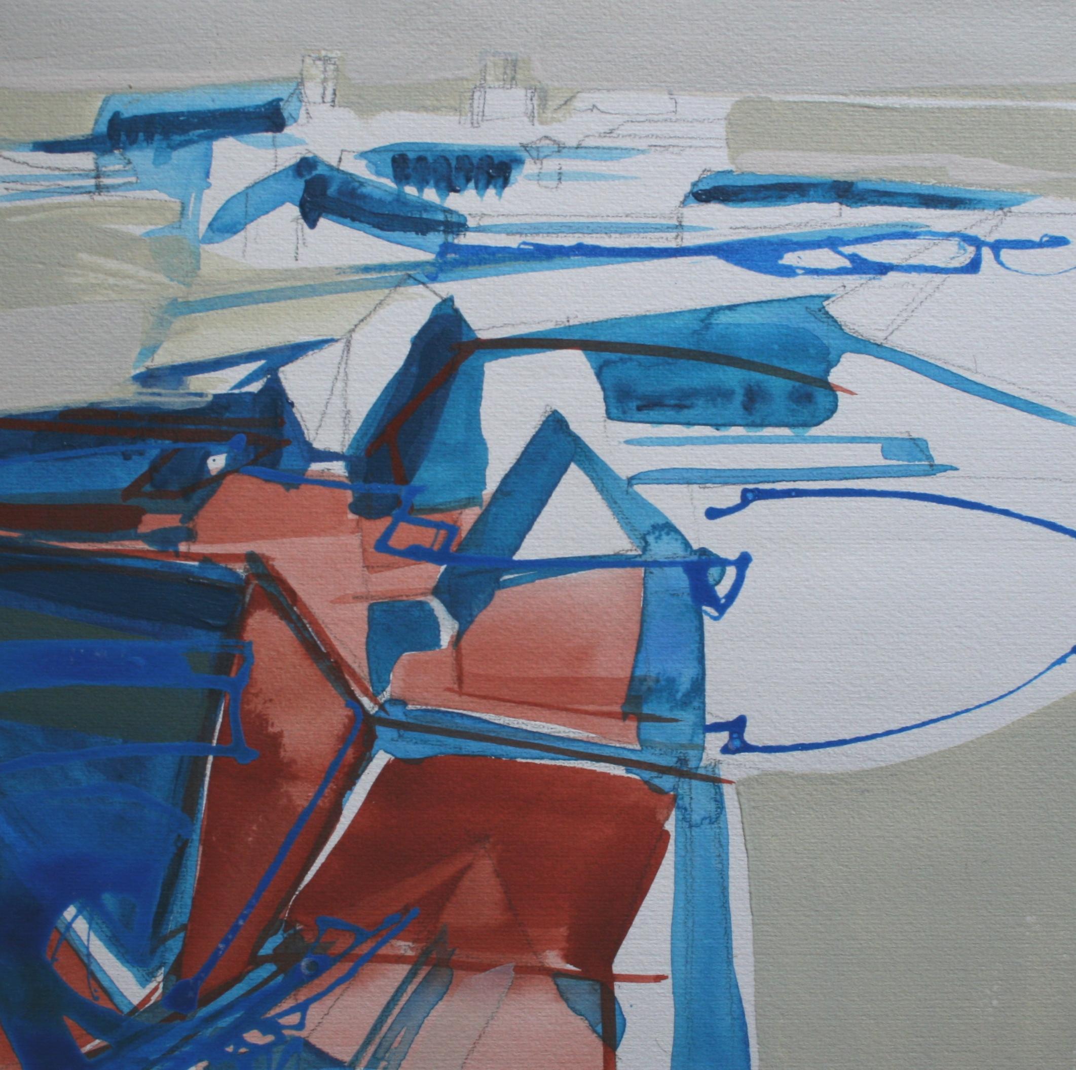 digbeth study, acrylic on paper, 25 x 25cm, 2001 Sold